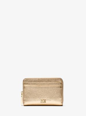 22a73efa860a Small Metallic Pebbled Leather Wallet