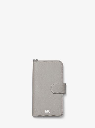 8ed68c57463f Saffiano Leather Folio Case For Iphone 7 8