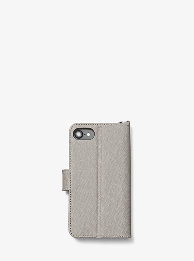 63078eaaa00d Saffiano Leather Folio Case for iPhone 7 8. MICHAEL Michael Kors