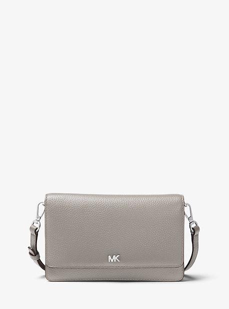마이클 마이클 코어스 Michael Michael Kors Pebbled Leather Convertible Crossbody Bag,PEARL GREY