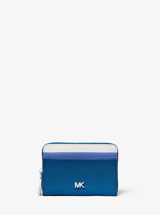 a7da4cef81c7 Small Color-block Pebbled Leather Wallet