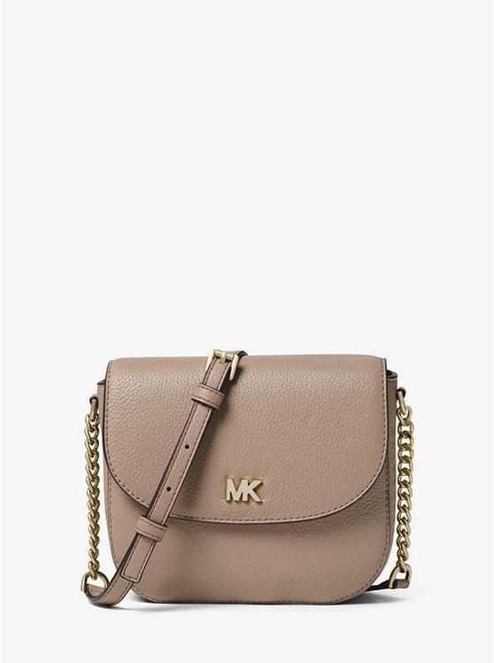 0199a3a4302a Mott Pebbled Leather Dome Crossbody Bag | Michael Kors