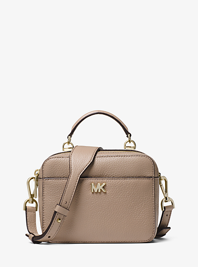 885dacd190b0 Mott Mini Pebbled Leather Crossbody | Michael Kors