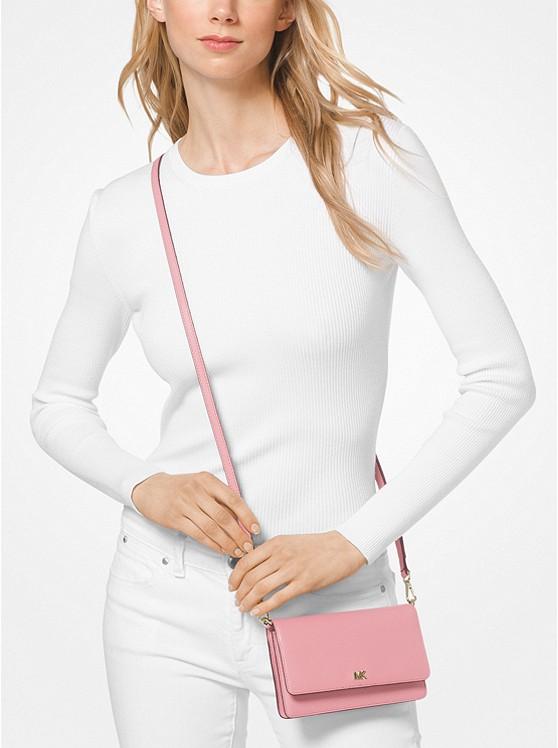 Pebbled Leather Convertible Crossbody Bag