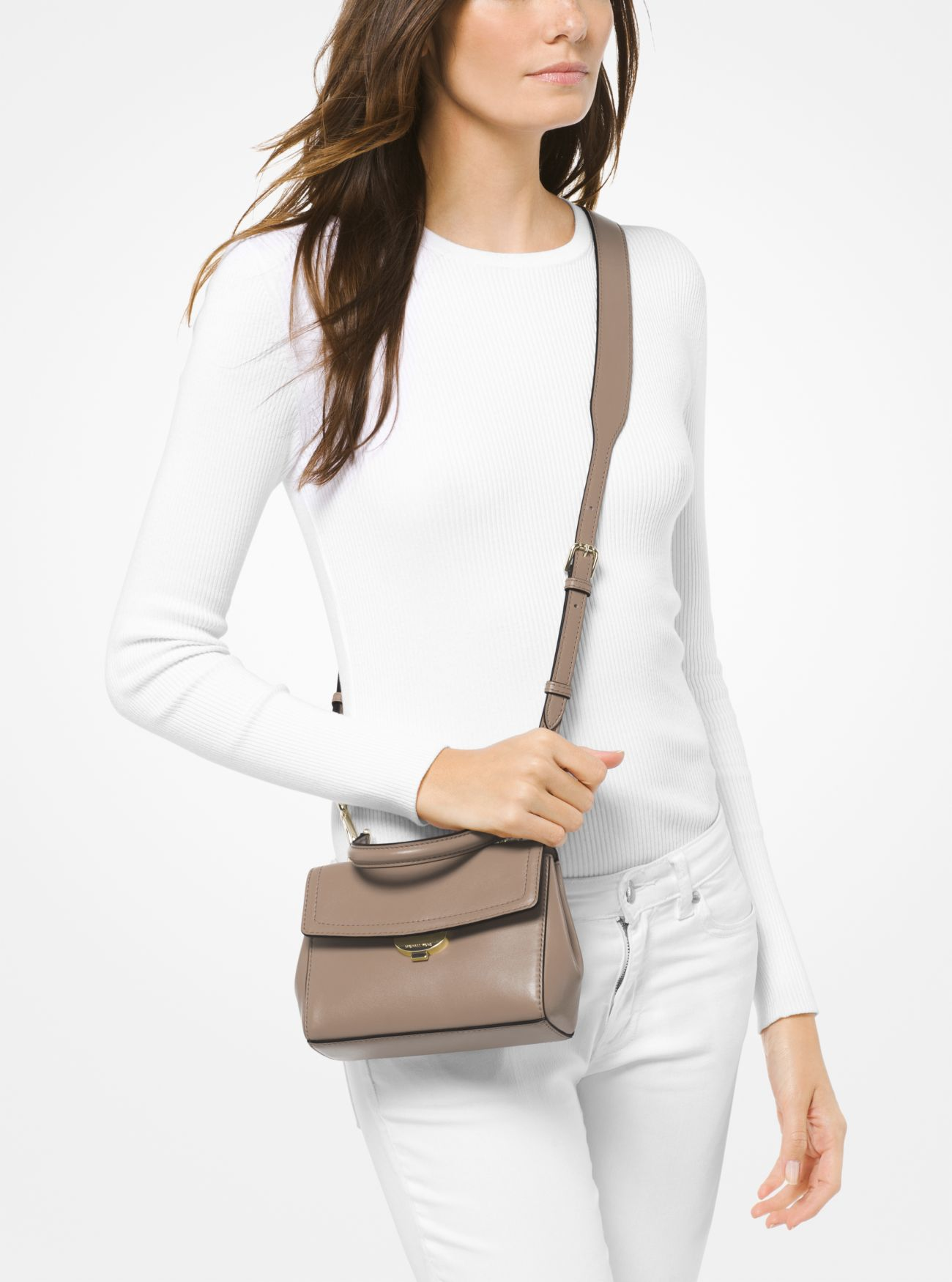 664beba3b7a963 ... Ava Extra-Small Leather Crossbody Bag. MICHAEL Michael Kors