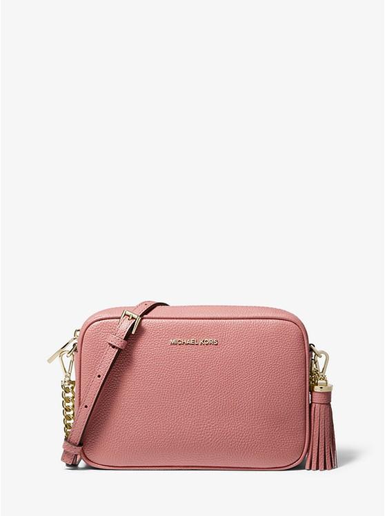 fdeceb3e7190b Ginny Medium Pebbled Leather Crossbody Bag