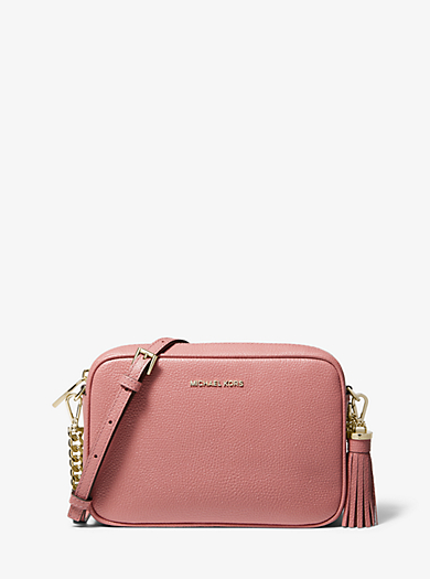 764901daaefd12 Ginny Medium Pebbled Leather Crossbody Bag | Michael Kors