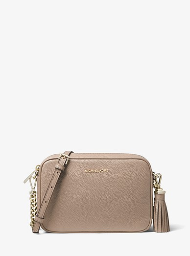 8ed47eee95 Ginny Medium Pebbled Leather Crossbody Bag