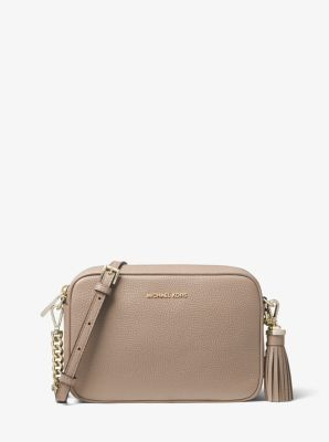 b18ecc0ee70c Ginny Medium Pebbled Leather Crossbody Bag | Michael Kors