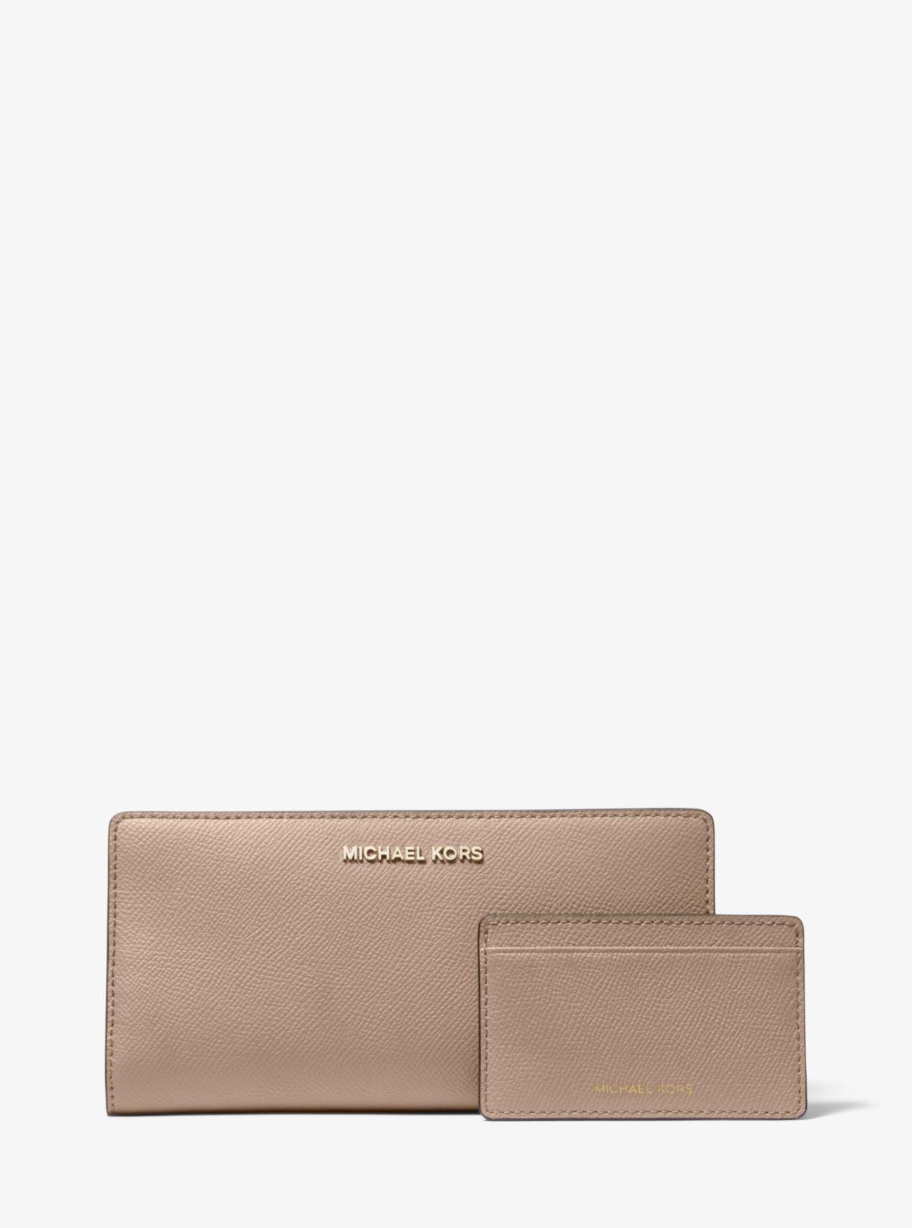 9cc2209b Large Saffiano Leather Slim Wallet | Michael Kors