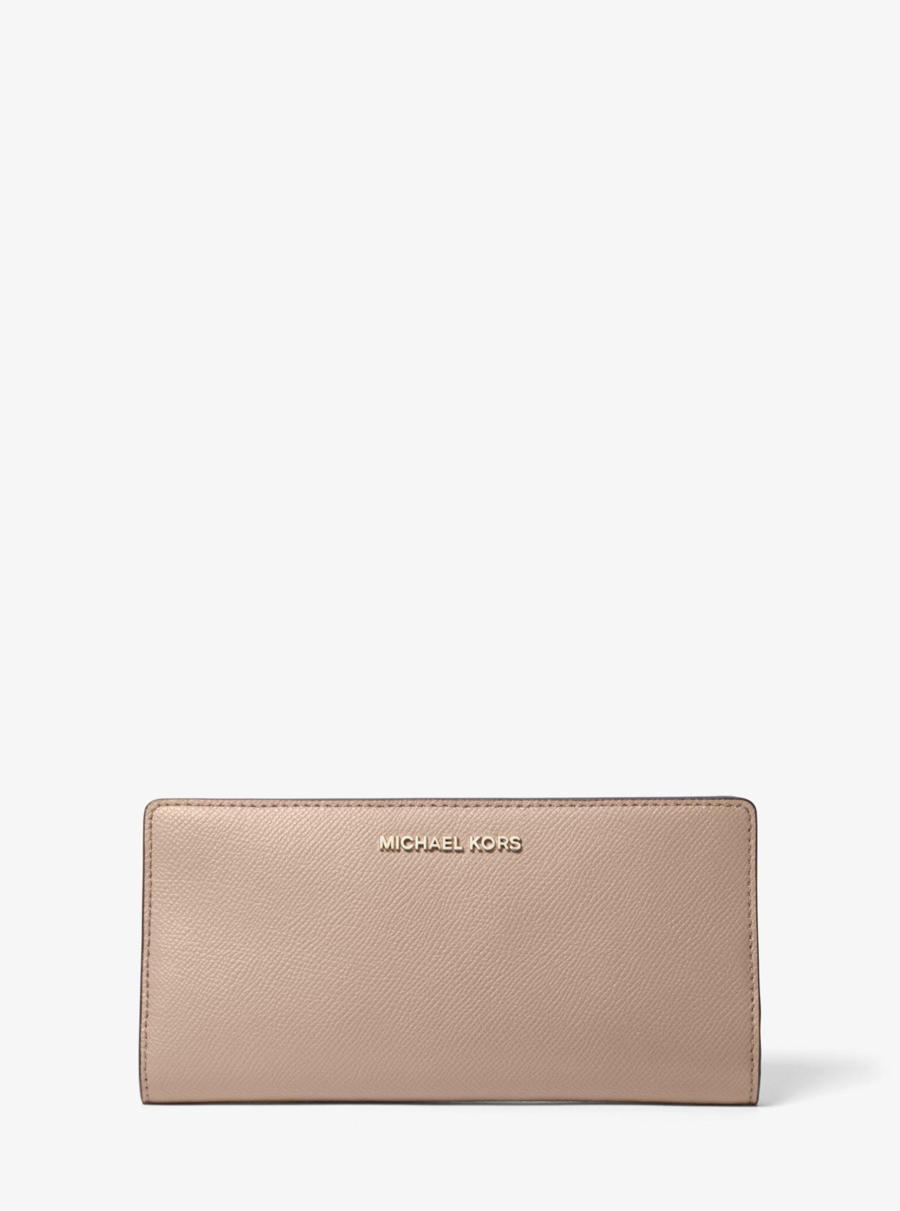 a2956186e41fc ... Large Saffiano Leather Slim Wallet Large Saffiano Leather Slim Wallet. MICHAEL  Michael Kors
