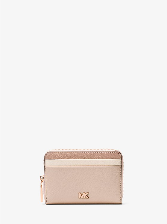 71c5a5497fe7 Small Color-block Pebbled Leather Wallet