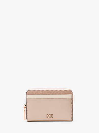 11f430bd7455 Small Color-Block Pebbled Leather Wallet