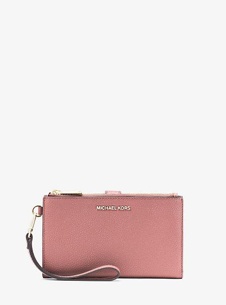 Adele Pebbled Leather Smartphone Wallet