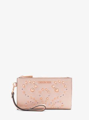 0c80801df6d6 Adele Embellished Leather Smartphone Wallet | Michael Kors