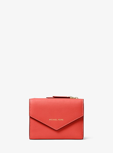 97686871d5f9 Small Leather Envelope Wallet | Michael Kors
