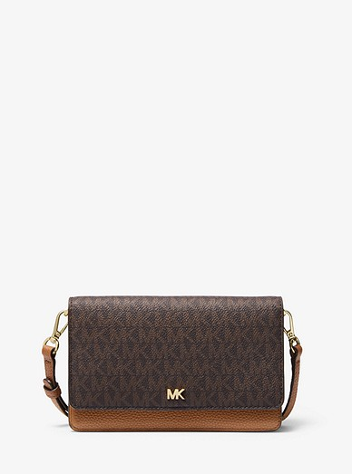 0bac786b630d67 Logo And Leather Convertible Crossbody Bag | Michael Kors