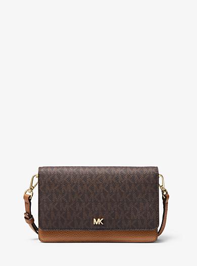 Logo and Leather Convertible Crossbody Bag | Michael Kors