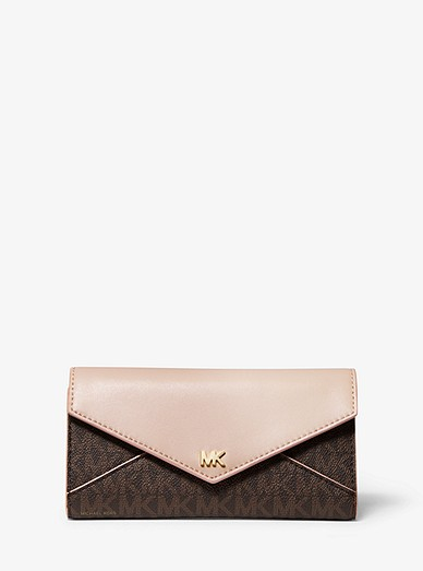 31e4a0ad6f78 Large Logo And Leather Envelope Wallet | Michael Kors