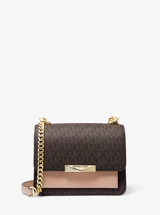 Jade Extra Small Logo And Leather Crossbody Bag by Michael Michael Kors