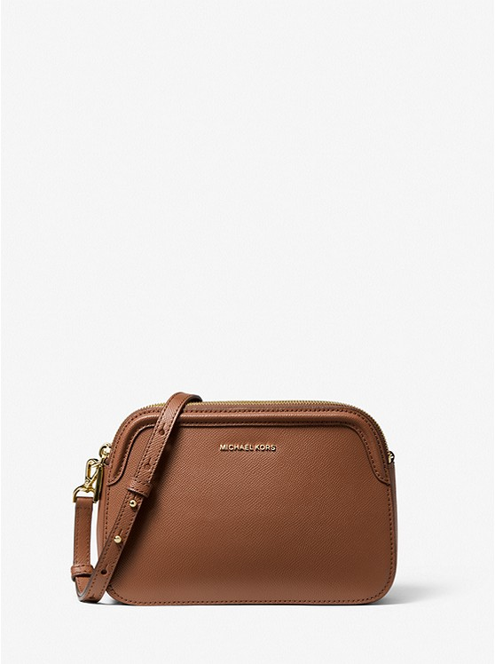 Houston Large Crossgrain Leather Crossbody Bag
