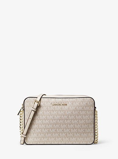 4cf89b75ca39 Jet Set Large Logo Jacquard Crossbody Bag | Michael Kors