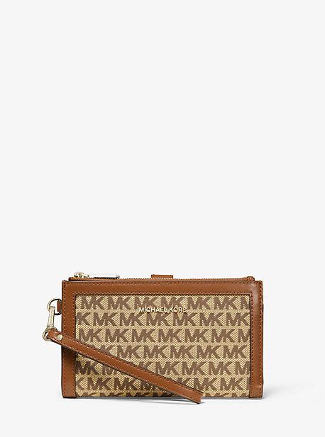 f2a98c08a77d Adele Logo Jacquard Smartphone Wallet | Michael Kors