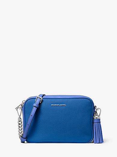 a2f224c0fa9f28 Ginny Medium Two-Tone Pebbled Leather Crossbody Bag · michael michael kors  ...
