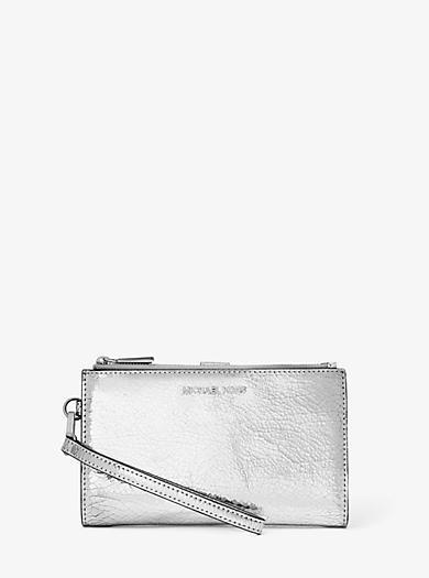2eb0cb927eb17e Adele Crackled Metallic Leather Smartphone Wallet · michael michael kors ...
