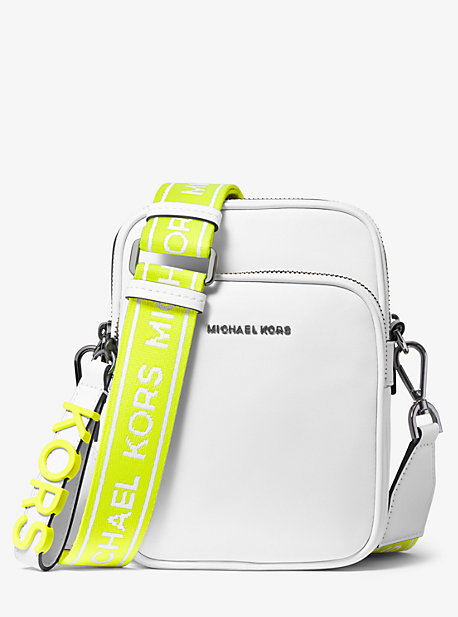 f8025c8d9 Medium Leather Neon Logo Tape Crossbody Bag · michael michael kors ...