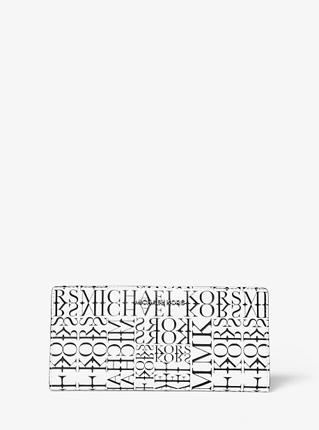 19e8d720 Large Newsprint Logo Leather Slim Wallet · michael michael kors ...