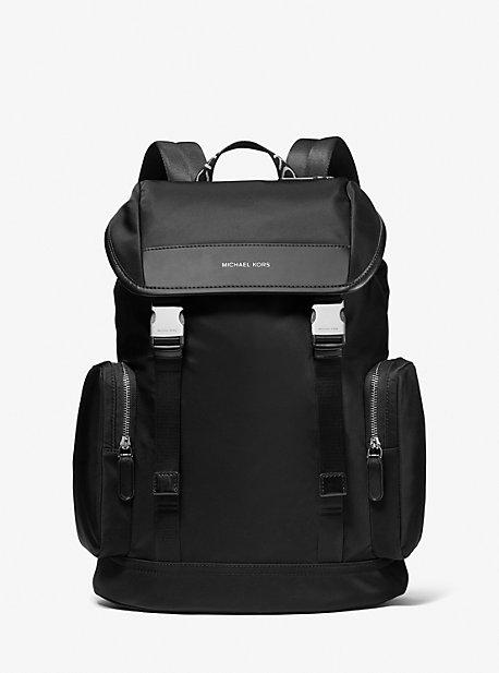 Hudson Logo Nylon Gabardine Backpack | Michael Kors