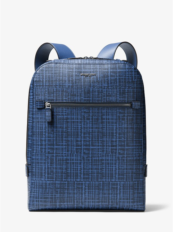 Harrison Crosshatch Leather Backpack