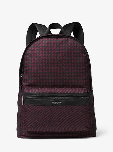 2ee461a45ec8 Kent Houndstooth Nylon Backpack   Michael Kors