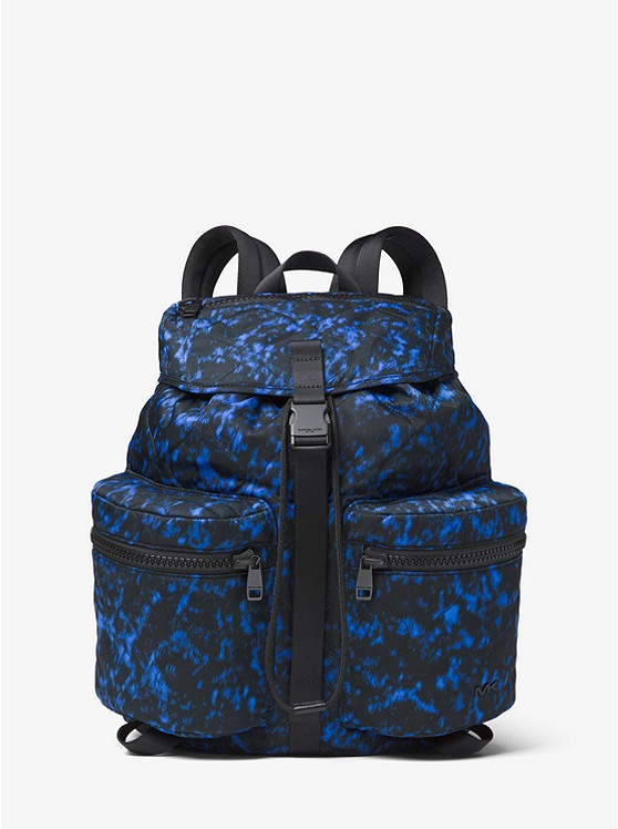 Kent Volcanic Print Nylon Backpack by Michael Kors Mens