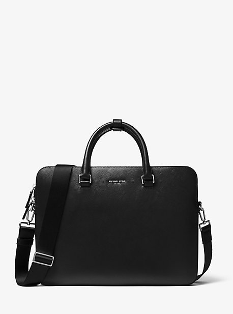 마이클 코어스 맨 서류 가방 Michael Kors Henry Crossgrain Leather Briefcase