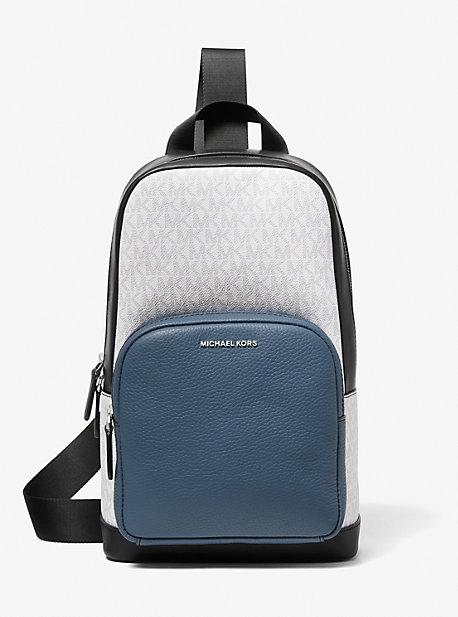마이클 코어스 맨 슬링팩 Michael Kors Hudson Color-Block Logo and Leather Commuter Sling Pack