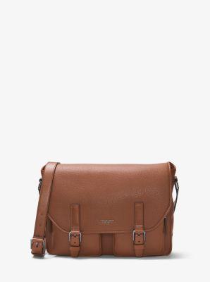 88274b5952b8 Bryant Leather Cargo-Pocket Messenger Bag | Michael Kors