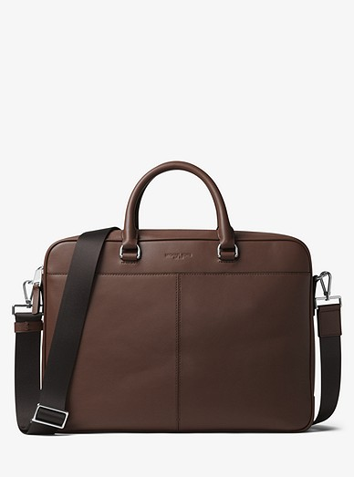276e857a5f06 Odin Large Leather Briefcase | Michael Kors