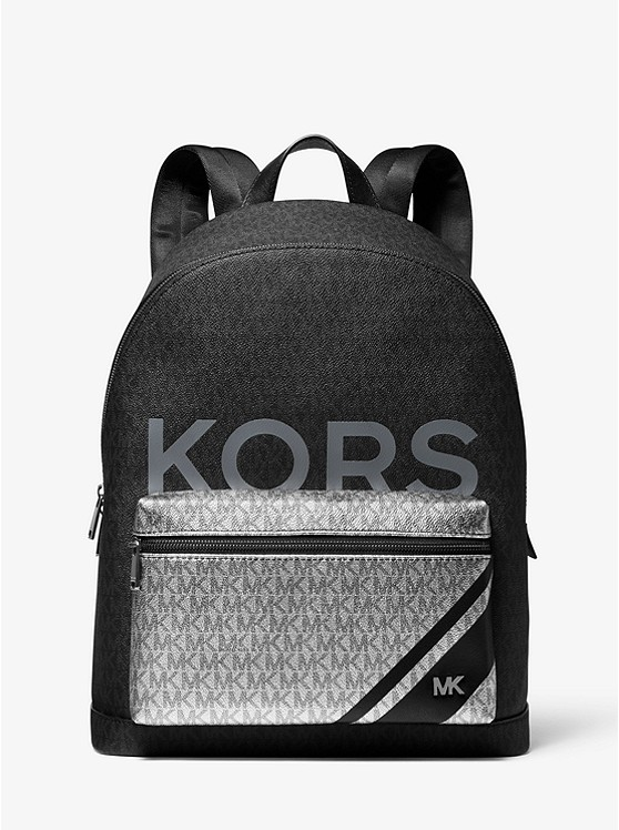 Jet Set Color Block Logo Backpack by Michael Kors Mens