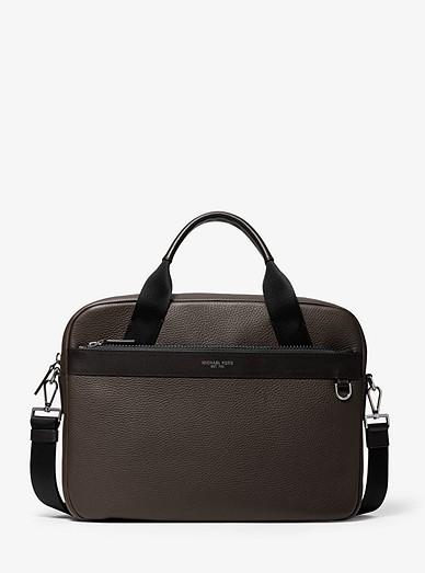 8f8b779bf639 Greyson Slim Pebbled Leather Briefcase