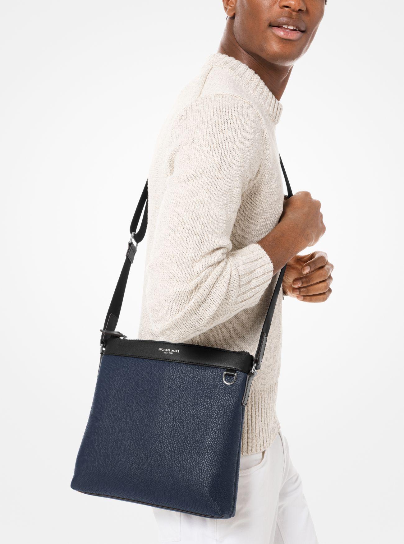 Greyson Pebbled Leather Messenger Bag | Michael Kors