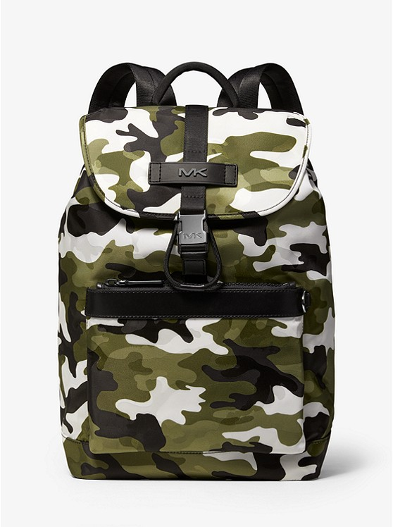 Kent Camouflage Jacquard Nylon Backpack by Michael Kors Mens