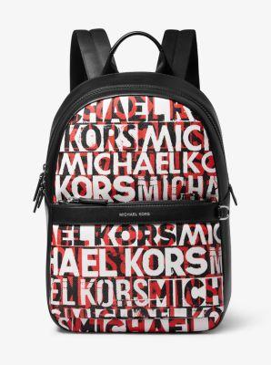 마이클 코어스 백팩 Michael Kors Greyson Graphic Logo Backpack,BLK/RC RD