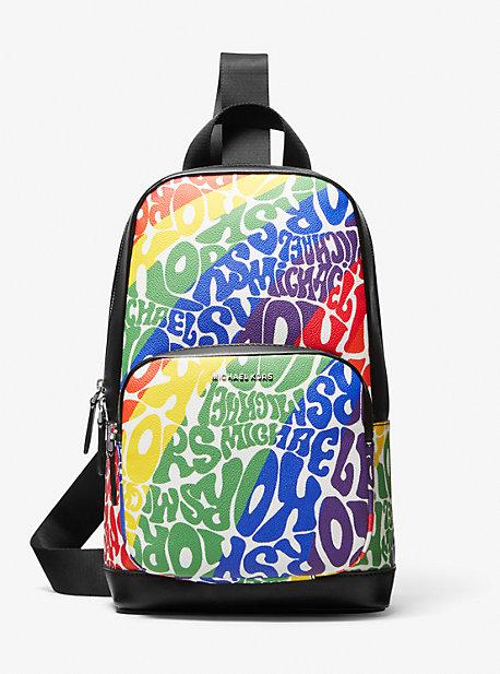 마이클 코어스 맨 허드슨 슬링팩 Michael Kors Hudson Graphic Logo Sling Pack