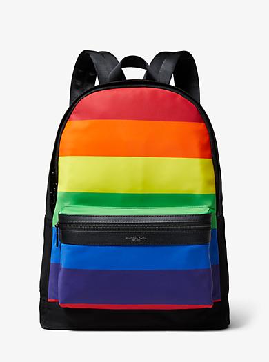 44d9b10069f6 Kent Rainbow Stripe Nylon Backpack · michael kors ...