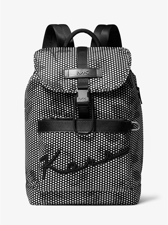 Kent Floral Dot Print Nylon Backpack by Michael Kors Mens
