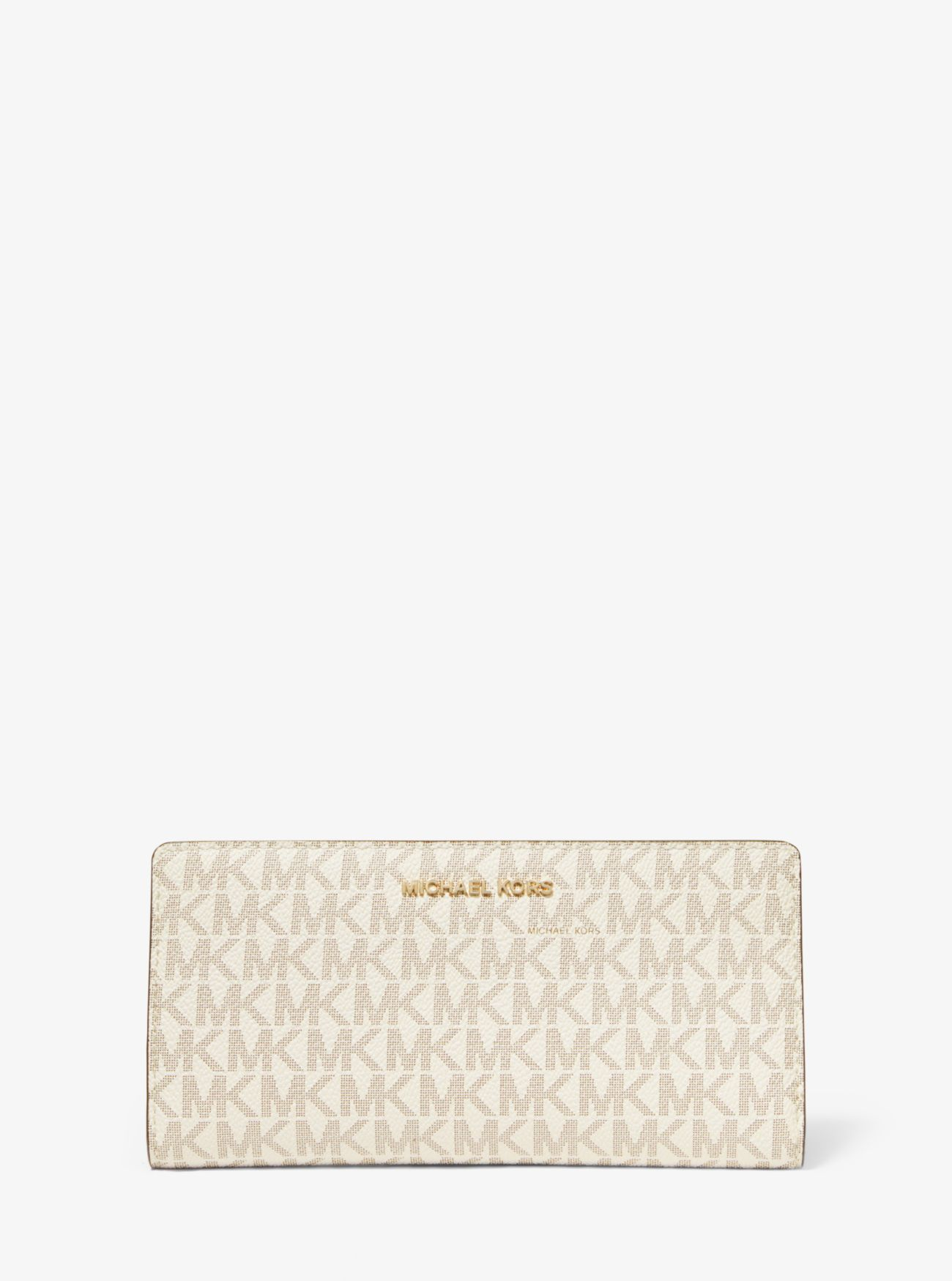 Große, schmale Brieftasche aus Logostoff