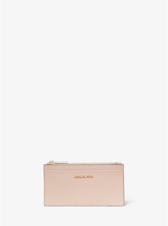 porte carte michael kors Large Pebbled Leather Card Case | Michael Kors