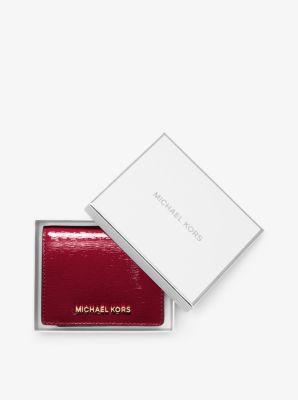 873ed42e89ae Jet Set Travel Saffiano Leather Cardholder | Michael Kors